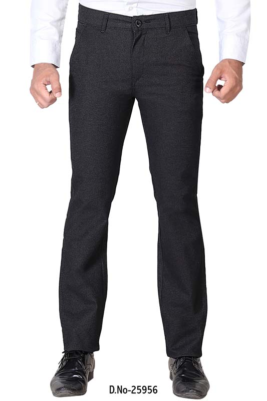 UTD D 1002-BLACK CASUAL TROUSER