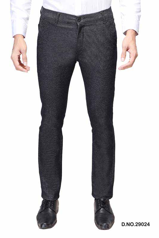 UTD D 1025-BLACK CASUAL TROUSER