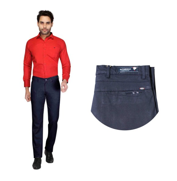 UTD STYLE 22253-NAVY BLUE CASUAL TROUSER