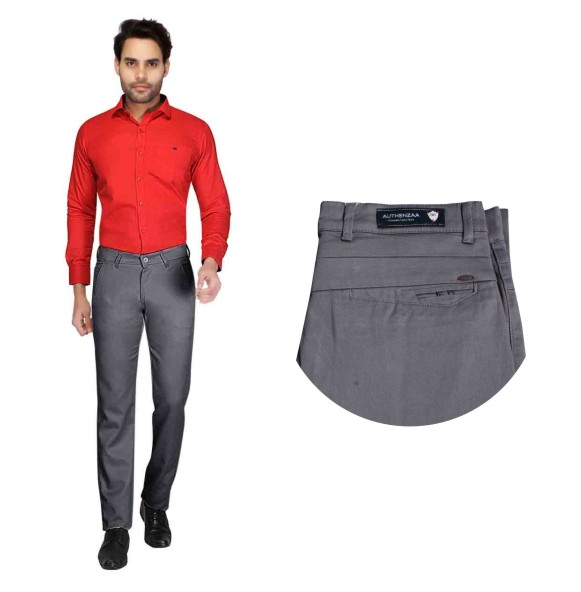 UTD STYLE 22253-GRAY CASUAL TROUSER