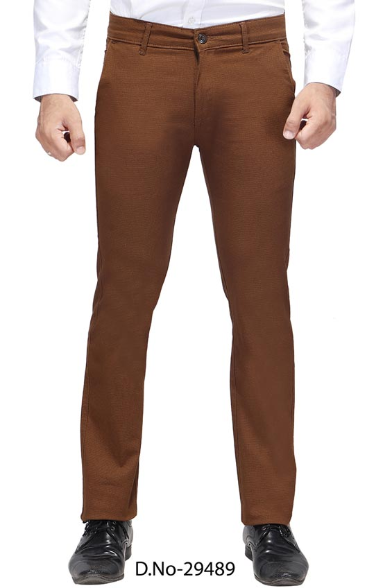 UTD D 3072-COFFEE CASUAL TROUSER