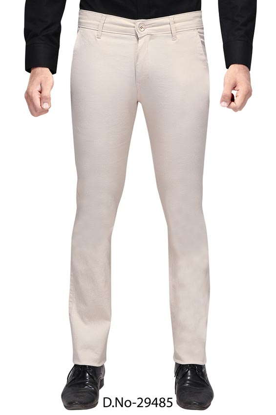 UTD D 3072-CREAM CASUAL TROUSER