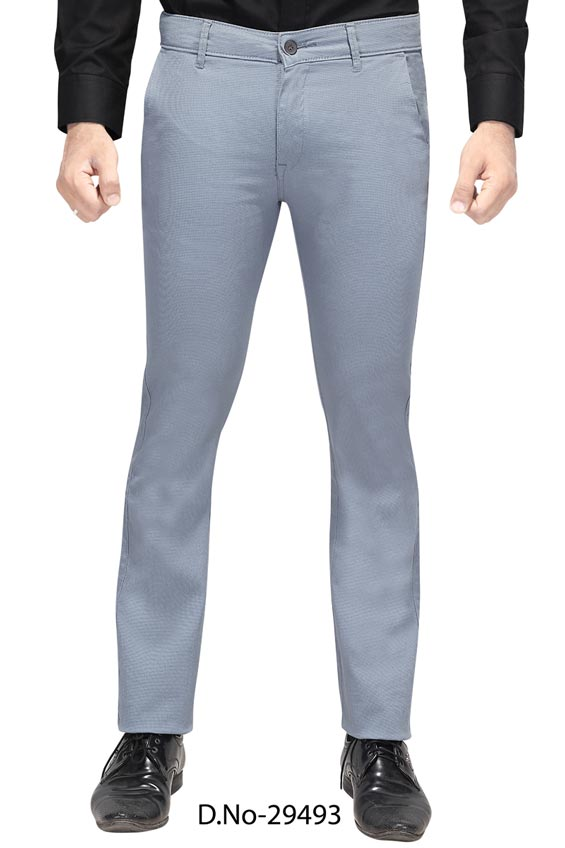 UTD D 3072-SKY BLUE CASUAL TROUSER