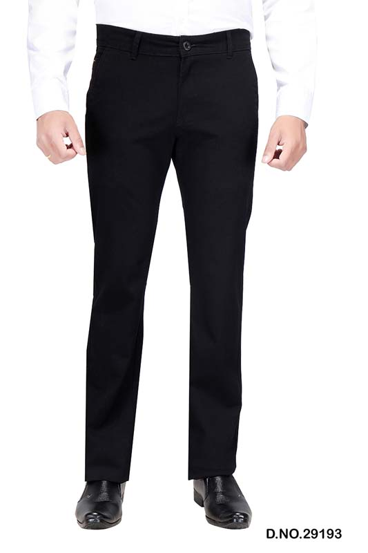 UTD D 309-BLACK CASUAL TROUSER