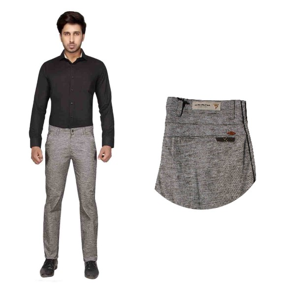 UTD STYLE D-857-COFFEE CASUAL TROUSER
