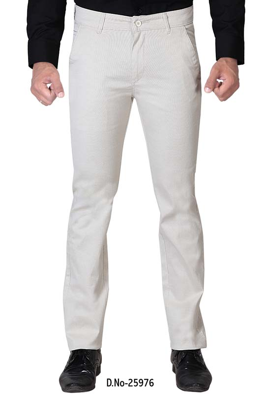 UTD D 731-CREAM CASUAL TROUSER