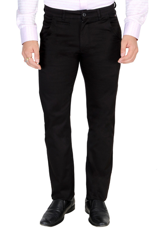 UTD ECO RANGE 3-BLACK CASUAL TROUSER