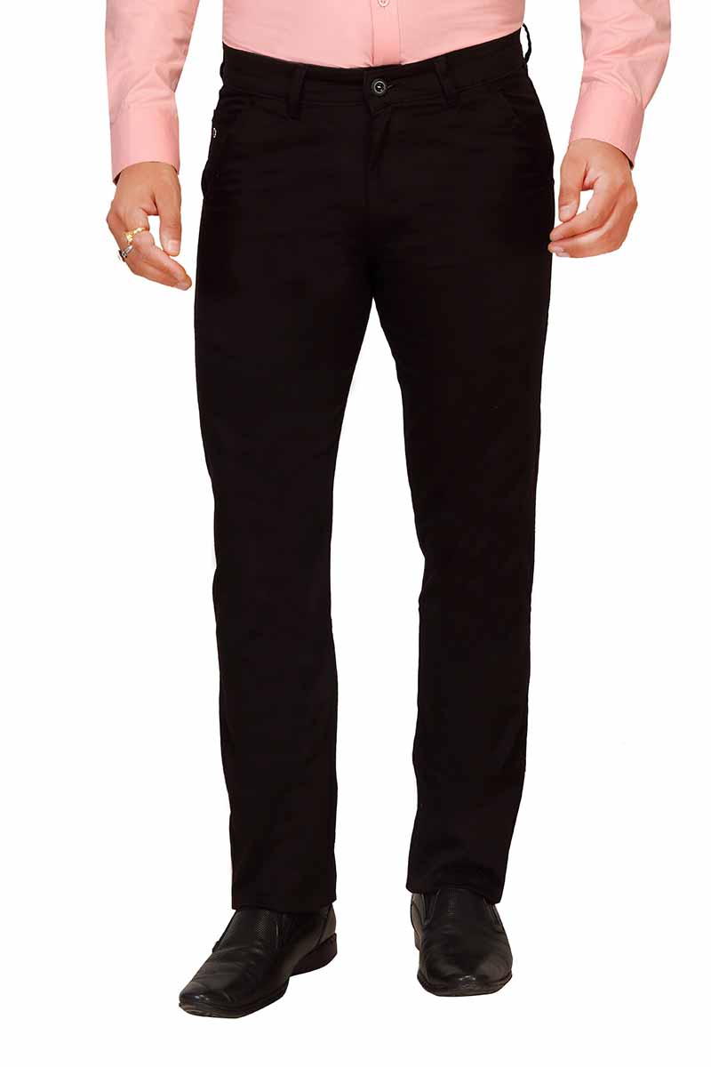 UTD FD 3-BLACK CASUAL TROUSER