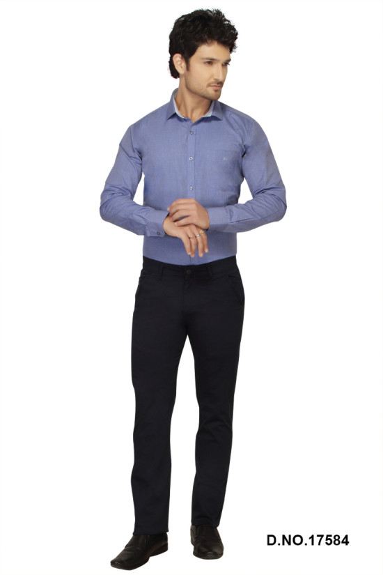 UTD FD 3-NAVY BLUE CASUAL TROUSER