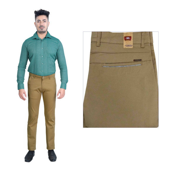 UTD FD 5-LT BROWN CASUAL TROUSER