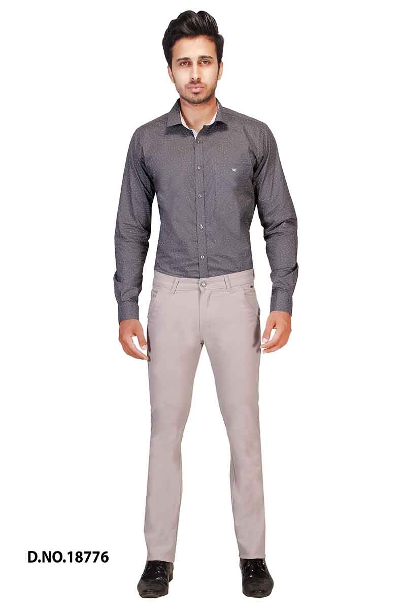UTD POCKET 1-BONE GRAY CASUAL TROUSER