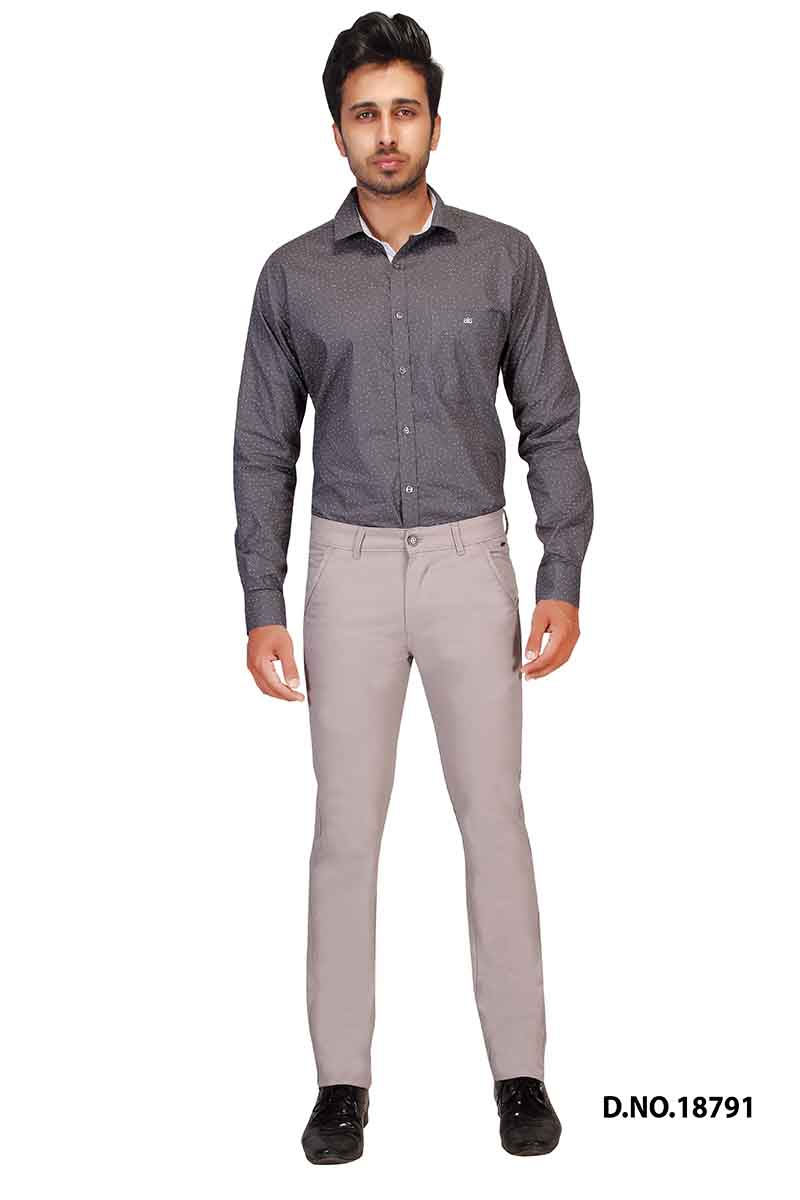 UTD POCKET 2-BONE GRAY CASUAL TROUSER