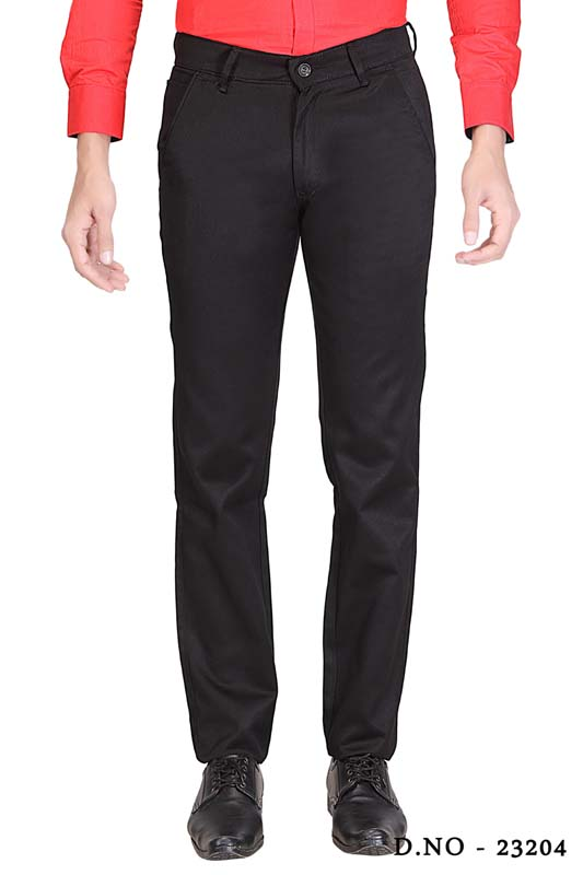 UTD SINGLE BONE 1-BLACK CASUAL TROUSER