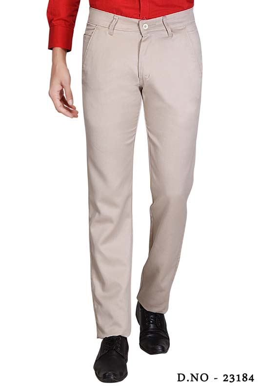 UTD SINGLE BONE 1-CREAM CASUAL TROUSER