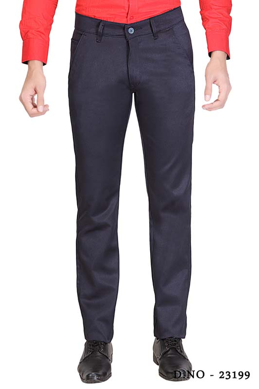 UTD SINGLE BONE 1-NAVY BLUE CASUAL TROUSER