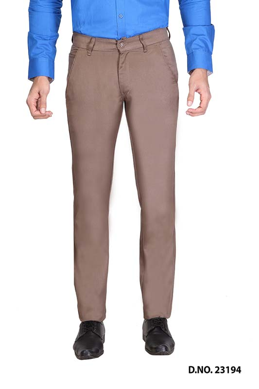 UTD SINGLE BONE 1-DARK COFFEE CASUAL TROUSER