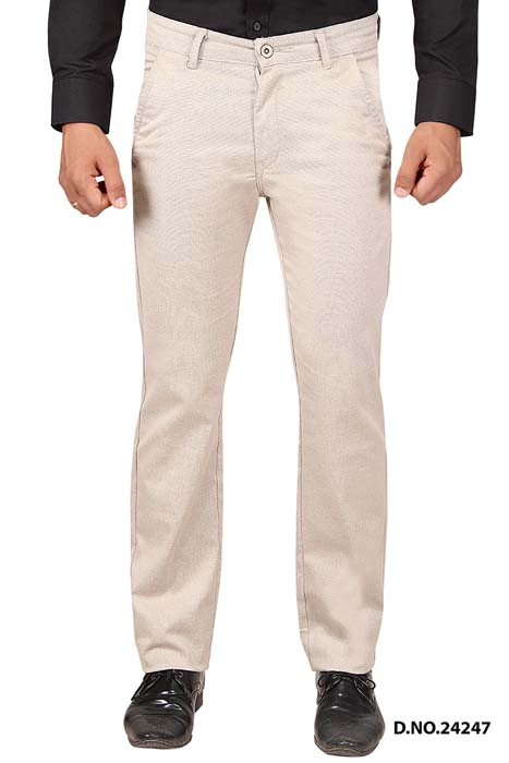 UTD STYLE 33130-CREAM  CASUAL TROUSER