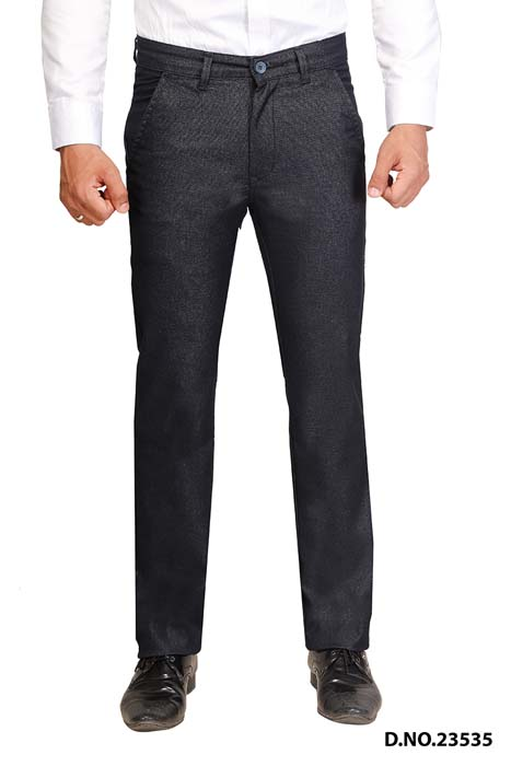UTD STYLE 33130-NAVY BLUE CASUAL TROUSER