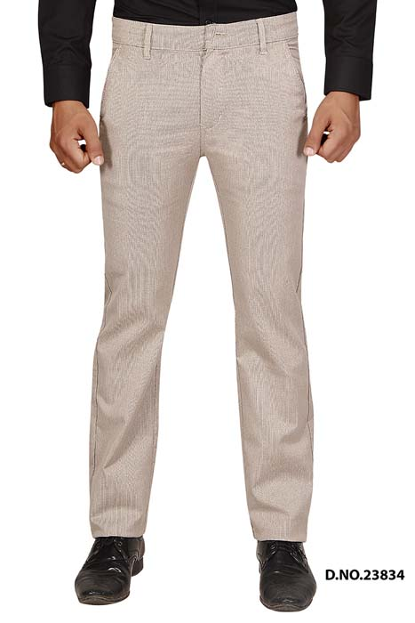 UTD STYLE 33291-CREAM CASUAL TROUSER