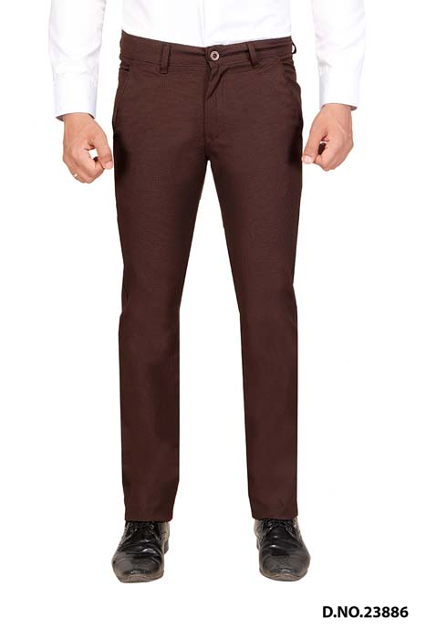 UTD STYLE D897-COFFEE CASUAL TROUSER