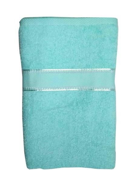 V B PLAIN 01-ICE BLUE-COTTON TERRY TOWEL