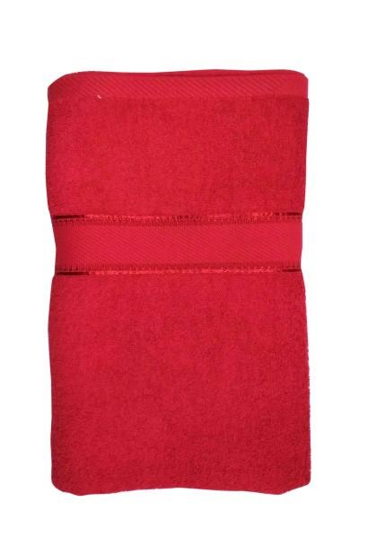 V B PLAIN 01-RED-COTTON TERRY TOWEL