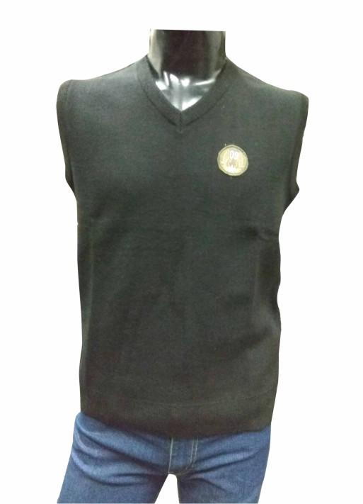 Sleeveless V Neck Black Logo 09 Sweaters