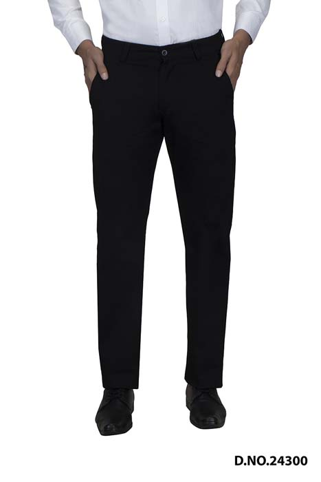 UTD VINTAGE 1027-BLACK CASUAL TROUSER