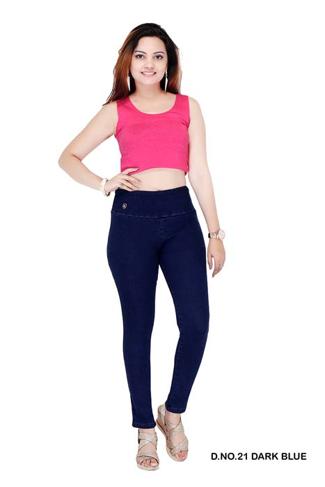 VIRAL JEGGING 02-DARK BLUE-WOMEN DENIM JEGGING