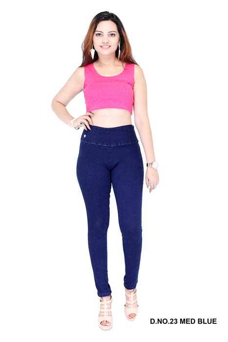 VIRAL JEGGING 02-MID BLUE-WOMEN DENIM JEGGING