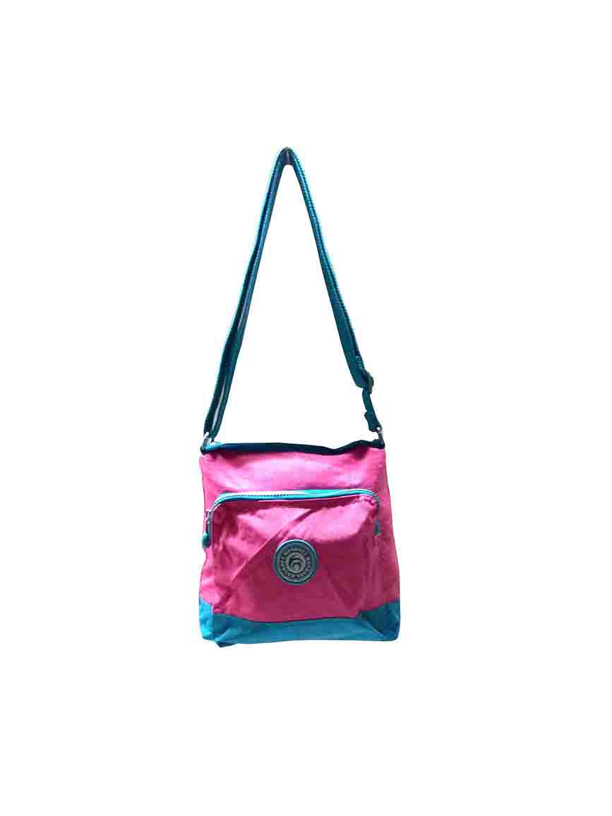 WHB SARA 03-PINK/BLUE-WOMEN HANDBAG