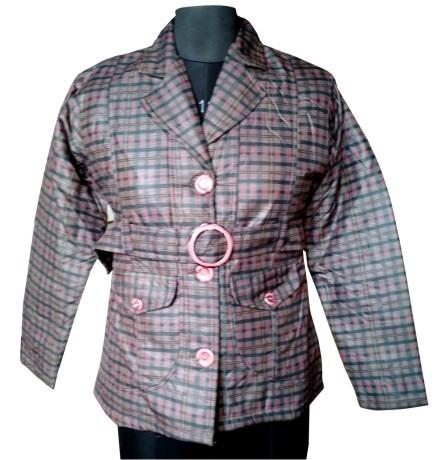 FSPL01 - Checks Maroon Women's Winter Jacket