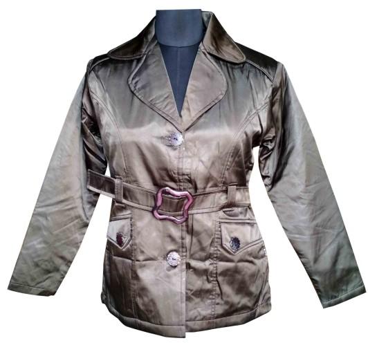 FSPL01 - Shining Dark Green Women's Winter Jacket