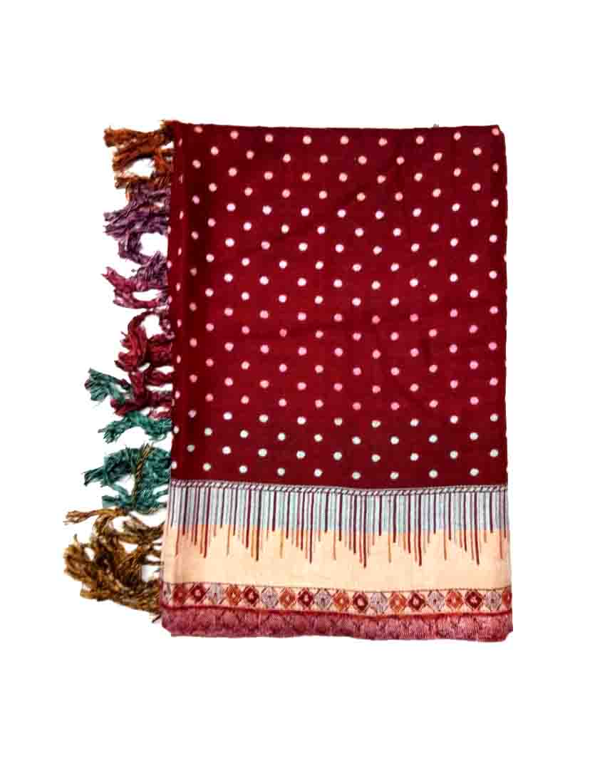 WMN STOLE-RED-WSTL 165 POLY D NO 5