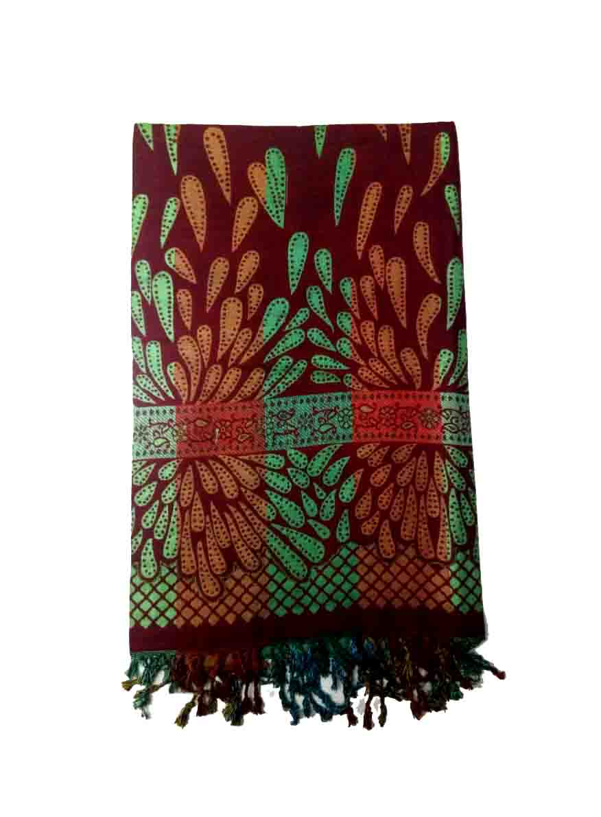 WOMEN SHAWL-MEHROON-WSWL 235 D NO 3