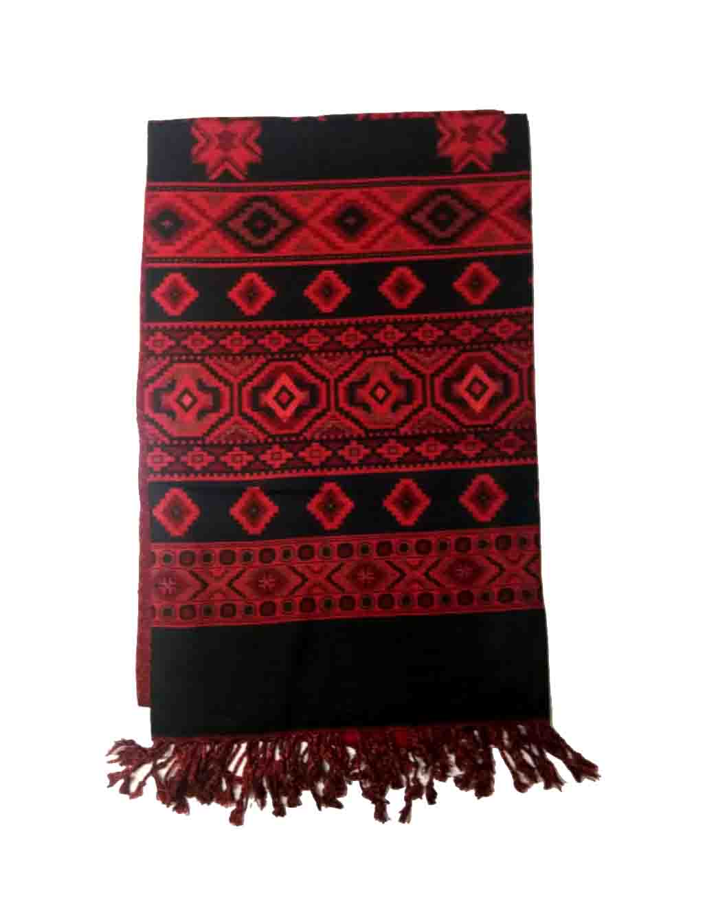 WOMEN SHAWL-RED/BLACK-WSWL 235 D NO 4
