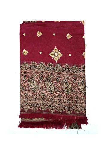 WOMEN SHAWL-MEHROON-WSWL 370 D NO 3