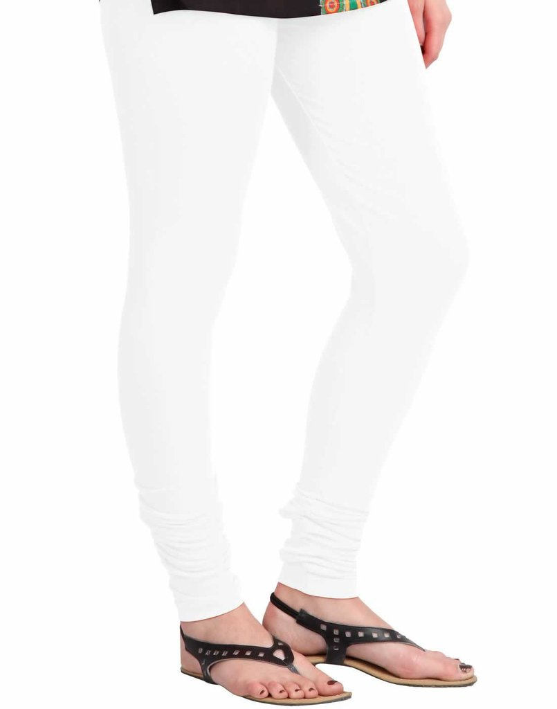 WL OLIVIA 01-WHITE PLAIN LEGGING