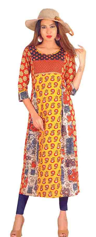 SC SAHELI-D NO 10 RAYON STYLISH KURTI