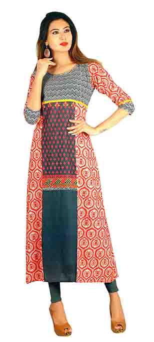 SC SAHELI-D NO 9 RAYON STYLISH KURTI