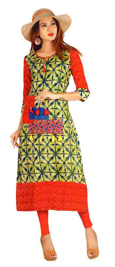 SC SAHELI-D NO 1 RAYON STYLISH KURTI