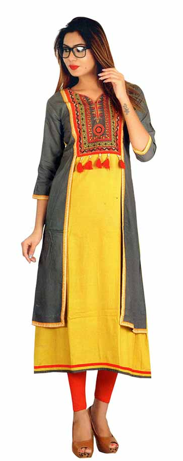 SC SAHELI-D NO 2 RAYON STYLISH KURTI