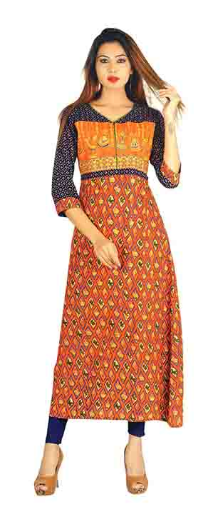 SC SAHELI-D NO 3 RAYON STYLISH KURTI