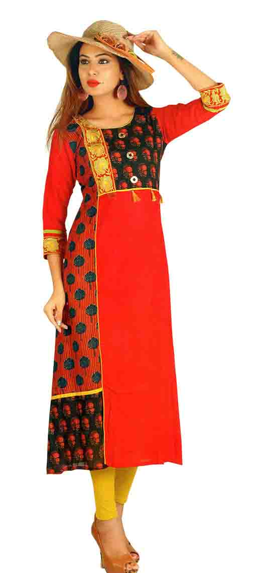 SC SAHELI-D NO 4 RAYON STYLISH KURTI