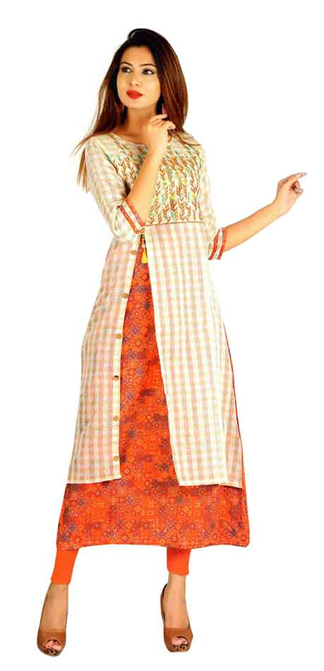 SC SAHELI-D NO 5 RAYON STYLISH KURTI