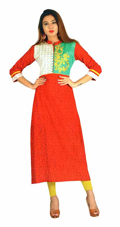 SC SAHELI-D NO 6 RAYON STYLISH KURTI