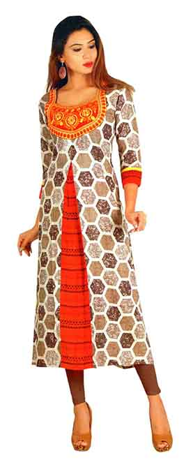 SC SAHELI-D NO 7 RAYON STYLISH KURTI