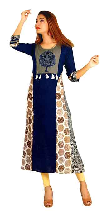 SC SAHELI-D NO 8 RAYON STYLISH KURTI