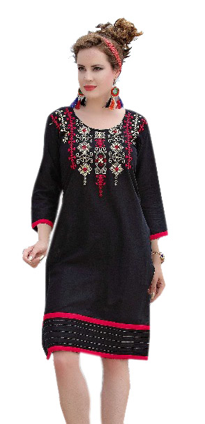 SMC ZARA 01-D NO 1 STYLISH COTTON LINEN KURTI