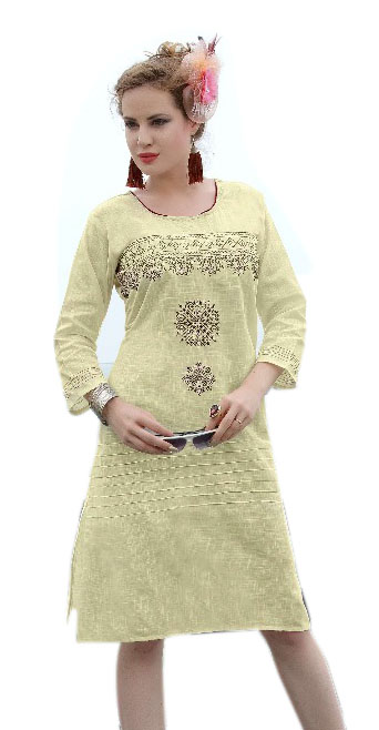 SMC ZARA 01-D NO 4 STYLISH COTTON LINEN KURTI